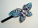A big butterfly is beautiful; shiningly a rhinestone hairpin (hair ornament, summary hair, hair accessories hair arrangement)