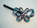 The gradation that a big butterfly is very beautiful shiningly a rhinestone hairpin (hair ornament, summary hair, hair accessories hair arrangement)★