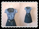 Two days only! Of all celebrity パープルアニマル pattern switched silk dress