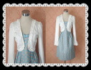 ★ a 2 point set ★ Princess style look beautiful bust-up smart's Bolero nice one-piece & set design