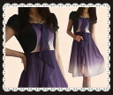 Chiffon frill one piece like the woman that purple gradation is fair