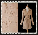 A tasteful classic style three-dimensional patterns a sense of luxury coat ★