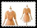 Two-point set transparent embroidery dress & inner slip set ★