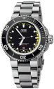 ORIS dive Aquis depth Gage mens watch Ref733 7675 4154-Set fs3gm