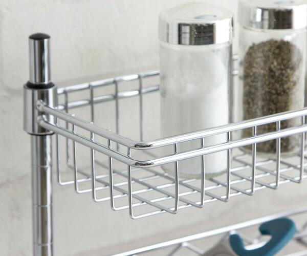 キッチン調味料ラック4段 幅45 KR-454(幅45×奥行12×高さ46.5cm) 上段ズーム