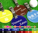 Golf Caddy bag for circular nametag with stylish nameplates, nametags