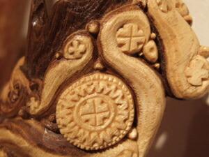 アイヌ 彫刻 ペンダン ト木彫り
