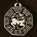 チベット ヤク骨 彫刻 カービング ペンダント