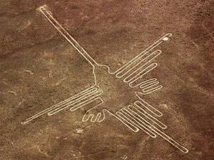 鳥に見えるナスカの地上絵