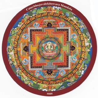 チベット密教ステッカー|曼荼羅...
