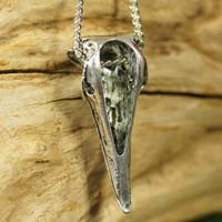 クロウスカル カラス頭蓋骨 ペンダント