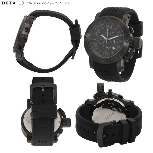 MAX マックス 腕時計 MAX532 47mm Big Face ブラック ブラック クロノグラフ ウォッチ 国内正規商品