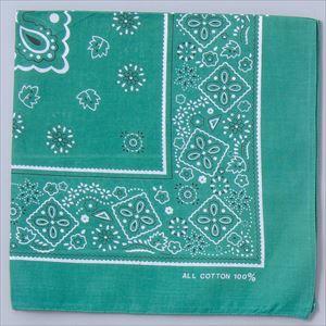 バンダナ 緑 1245 P12Sep14