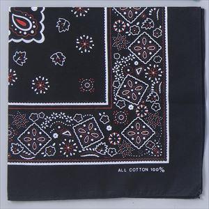 バンダナ 黒 1248 P12Sep14