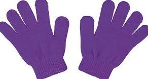 カラーのびのび手袋 紫 1402 P12Sep14