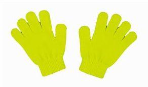 カラーのびのび手袋 蛍光イエロー 2268 P12Sep14