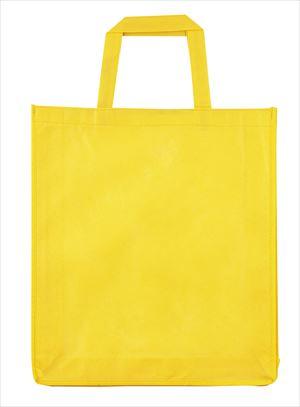 マチ付不織布トートバッグ タテ型 黄 70252 P12Sep14