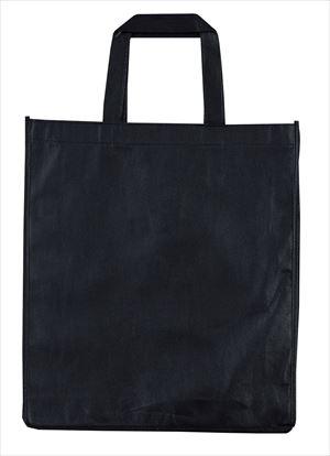 マチ付不織布トートバッグ タテ型 黒 70254 P12Sep14