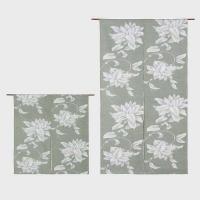 EJ1005 川島織物セルコン 夢の華 のれん 85×90 グリーン P12Sep14