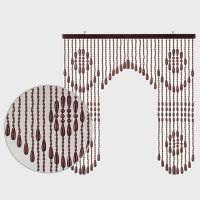 EE1511 川島織物セルコン 楓35連 珠のれん ブラウン P12Sep14