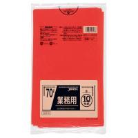 カラーポリ袋 10枚組 70L 40冊入 CCR70・赤(代引き不可)