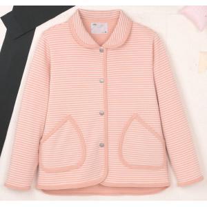ハニカムニット 衿付きジャケット(婦人用) 5553-A ピンクS(代引き不可) P12Sep14