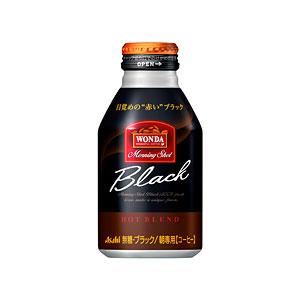 アサヒ WANDA ワンダ モーニングショット ホットブラック ボトル缶285g×24本 1ケース コーヒー(代引き不可)  P12Sep14