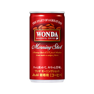 アサヒ WANDA ワンダ モーニングショット 缶 190g×30本 1ケース コーヒー(代引き不可)  P12Sep14