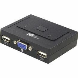 ラトックシステム USB接続 (2台用) ミニBOXタイプ REX-230U CPU切替器(KVM)(代引き不可) P12Sep14