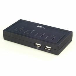 ラトックシステム USB接続 (4台用) ミニBOXタイプ REX-430U CPU切替器(KVM)(代引き不可) P12Sep14