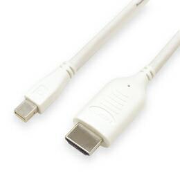 ミヨシ(MCO)ミニディスプレイポ-ト-HDMIケーブル 2m DPC-HD01/WH(代引き不可) P12Sep14