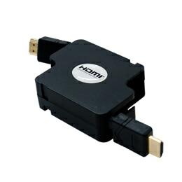ミヨシ(MCO)HDMIコードリ-ルタイプケ-ブル HDMI-HDMI 1.2m ブラック HDM-HERA12/BK(代引き不可) P12Sep14