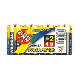 TOSHIBA(東芝)単2形アルカリ電池 アルカリ1 4本パック LR14AG 4MP(代引き不可) P12Sep14