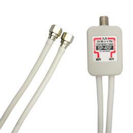 3Aカンパニー デジタル放送対応アンテナ分配器 4Cケーブル一体型 0.5m SP-45F(代引き不可) P12Sep14