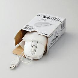 EU RoHS指令準拠 USB光学式マウスM-M1URWH/RS エレコム(代引き不可) P12Sep14