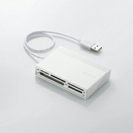 USBハブ付き48+5メディア対応カードリーダMR-C24WH エレコム(代引き不可) P12Sep14