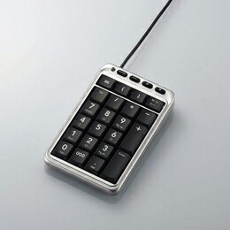 ホットキー付テンキーボードTK-TCM001SV エレコム(代引き不可) P12Sep14