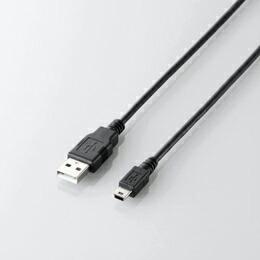 USB2.0ケーブル(A-mini-Bタイプ)U2C-GMM15BK エレコム(代引き不可) P12Sep14