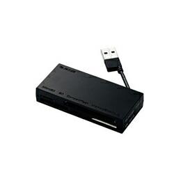 ケーブル収納メモリカードリーダMR-K010BK エレコム(代引き不可) P12Sep14