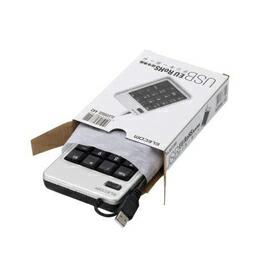 エレコム EU RoHS指令準拠 USBテンキーボード TK-TCM009SV/RS(代引き不可) P12Sep14
