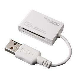 USB2.0カードリーダライタ(ホワイト)ADR-MCSDU2W サンワサプライ(代引き不可) P12Sep14