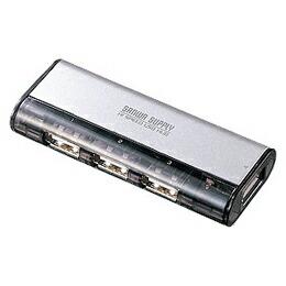 USB2.0ハブ(4ポート・シルバー)USB-HUB226GSV サンワサプライ(代引き不可) P12Sep14