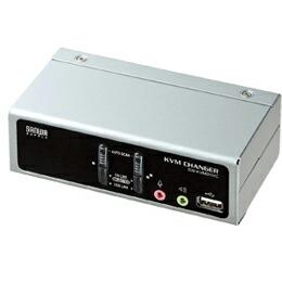 USB・PS/2コンソール両対応パソコン自動切替器(2:1)SW-KVM2HVC サンワサプライ(代引き不可) P12Sep14