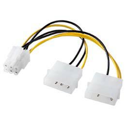 PCIExpress用電源変換ケーブルTK-PW87 サンワサプライ(代引き不可) P12Sep14