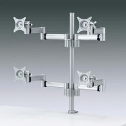 水平多関節液晶モニターアーム(4面、VESA規格)CR-LA904 サンワサプライ(代引き不可) P12Sep14