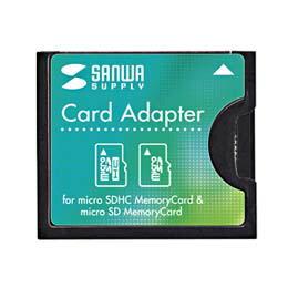microSD用CF変換アダプタADR-MCCF サンワサプライ(代引き不可) P12Sep14