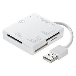 サンワサプライ USB2.0カードリーダー(ホワイト) ADR-ML15W(代引き不可) P12Sep14