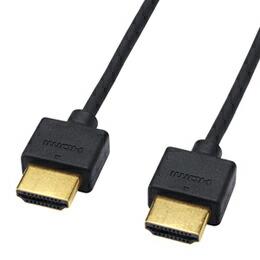 サンワサプライ イーサネット対応ハイスピードHDMIケーブル(スリム&スモール、1m) KM-HD20-10SS(代引き不可) P12Sep14