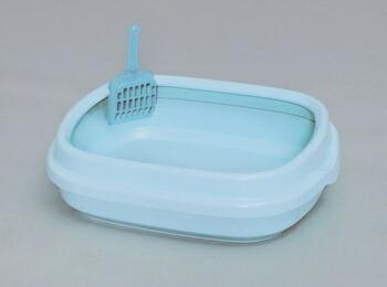 アイリスオーヤマ ネコのトイレ NE-490 トイレ ミルキーブルーNE-490(代引き不可) P12Sep14