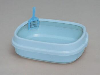 アイリスオーヤマ ネコのトイレ NE-550 トイレ ミルキーブルーNE-550(代引き不可) P12Sep14